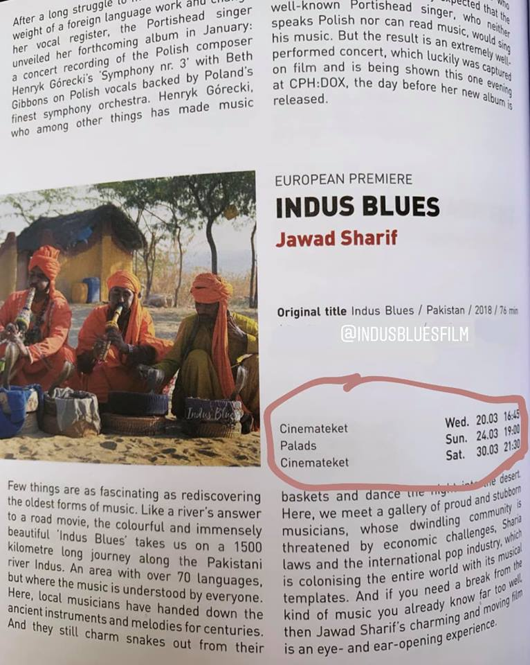 Indus Blues Continues to Shine at CPH:DOX