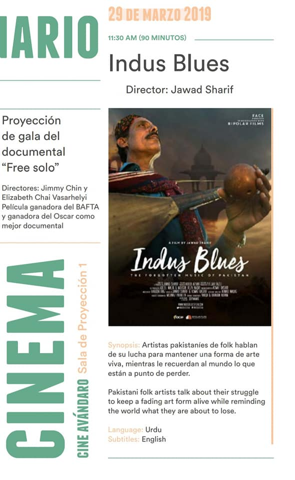 Indus Blues – Mexican Premiere at VFF 2019