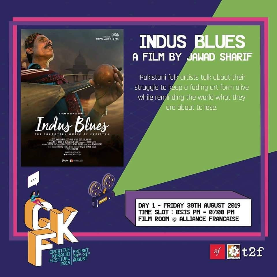 """Indus Blues"" to be Screened at ""CKF2019"""